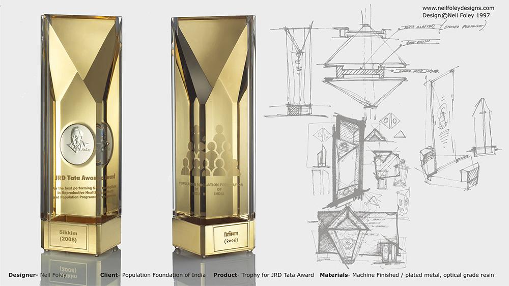 Portfolio categories trophy neil foley designs for How to design a trophy